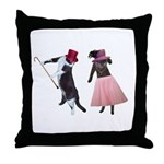 Fancy Dance Cats Throw Pillow