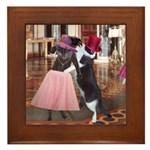 Ballroom Cats Framed Tile/Hot Plate