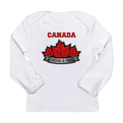 Canada STRONG  FREE Canadian Long Sleeve Infant T Canada Long Sleeve Infant T-Shirt by CafePress