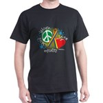 LGBTQIA Peace Love Equality Dark T-Shirt