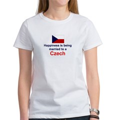 Happily Married To A Czech Women's T-Shirt