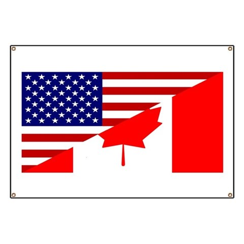 Canadian American Flag  Flag Banner by CafePress