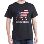 American Bulldog Dog Flag Memorial Day USA T-Shirt