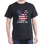 American Cat Flag Memorial Day USA T-Shirt
