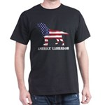 American Labrador Dog Flag Memorial Day US T-Shirt