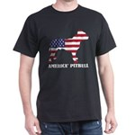 American Pitbull Dog Flag Memorial Day USA T-Shirt