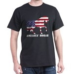 American Horse Flag Memorial Day USA T-Shirt