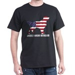 American Golden Retriever Dog Flag Memoria T-Shirt