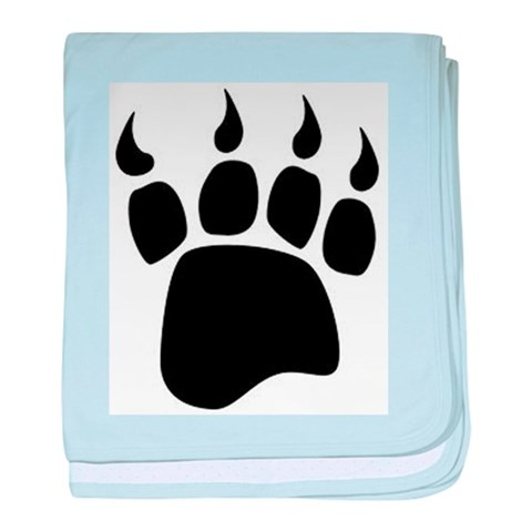 Bear paw  Art baby blanket by CafePress