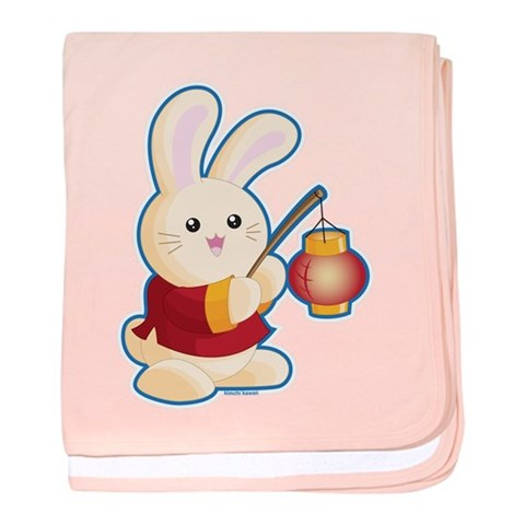 Year of the Rabbit  Cute baby blanket by CafePress