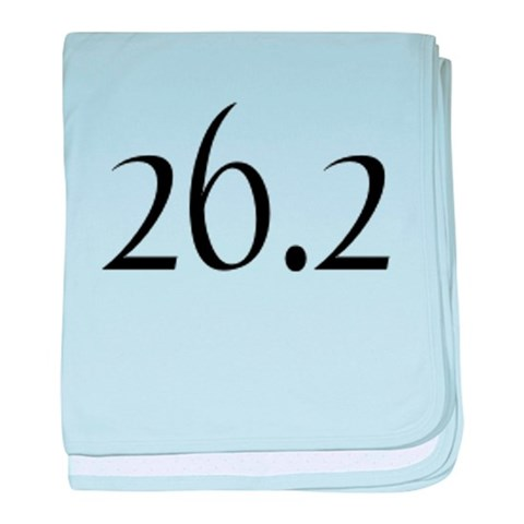 26.2  Sports baby blanket by CafePress