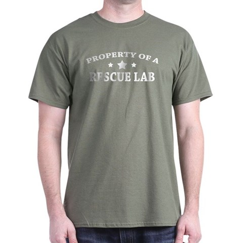 Property Of A Rescue Lab Dark T-shirt Picture