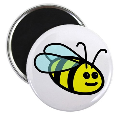 Big Bee  Art 2.25 Magnet 100 pack by CafePress