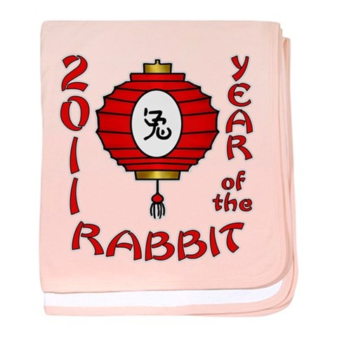 Year of the Rabbit 2011  Rabbit baby blanket by CafePress