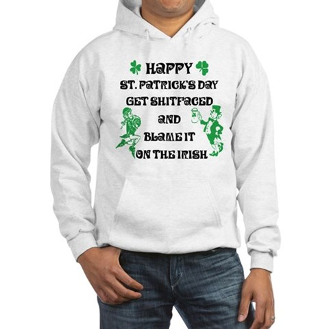Product Image of Happy St. Patrick's Day Hooded Sweatshirt