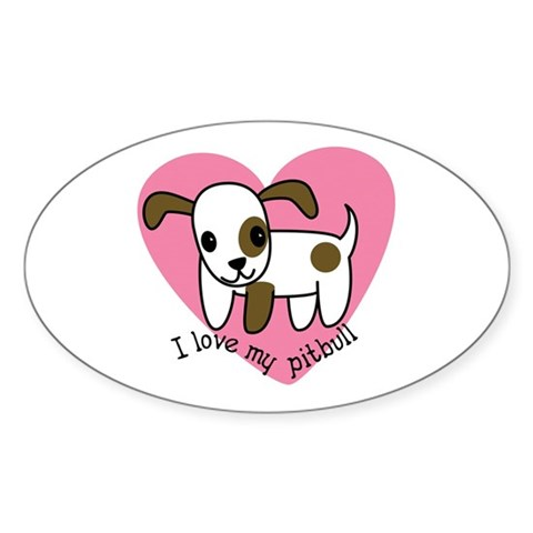 Cute PitBull Sticker