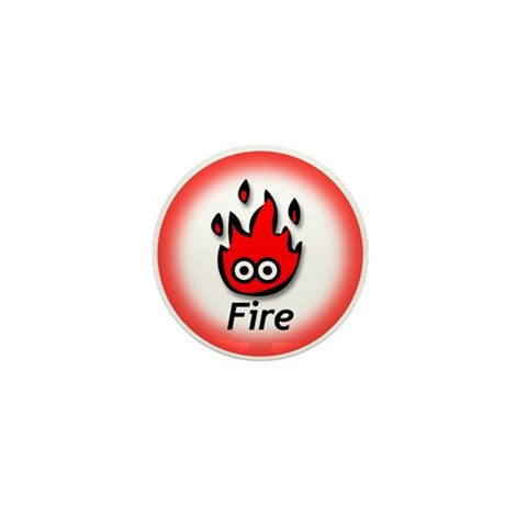 - Fire  Mini Button by CafePress