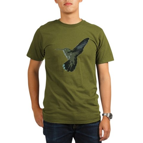 Hummingbird  Bird Organic Men's T-Shirt dark by CafePress