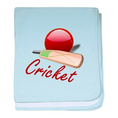 Cricket  Sports baby blanket by CafePress