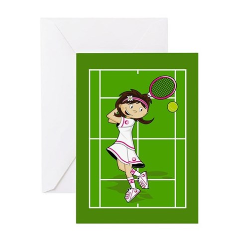Buy cute tennis gifts - Cute Tennis Girl card