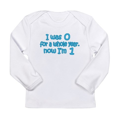 Baby Boy's First B-day  Funny Long Sleeve Infant T-Shirt by CafePress
