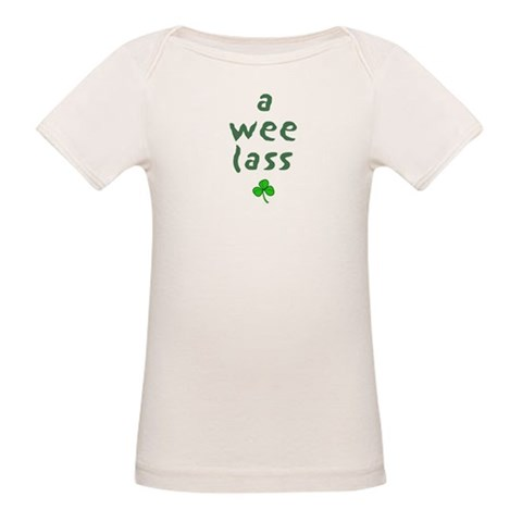 a wee lass  Irish Organic Baby T-Shirt by CafePress