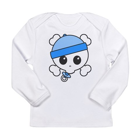 Baby Boy Skully  Cute Long Sleeve Infant T-Shirt by CafePress
