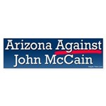 Arizona Against John McCain Bumper Sticker