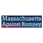 Massachusetts Against Romney Sticker