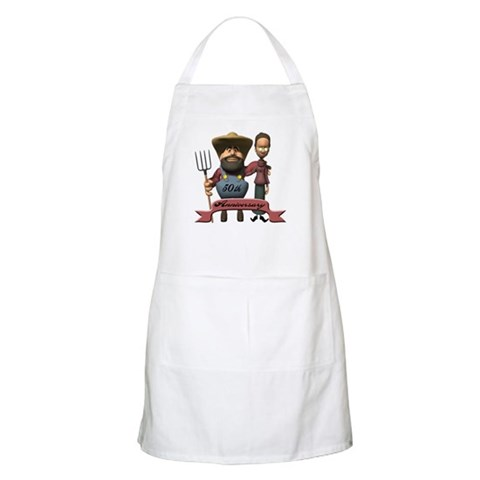 50th Wedding Anniversary  Wife Apron by CafePress