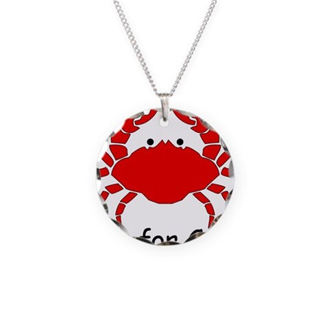 C is for Crab  Crab Necklace Circle Charm by CafePress