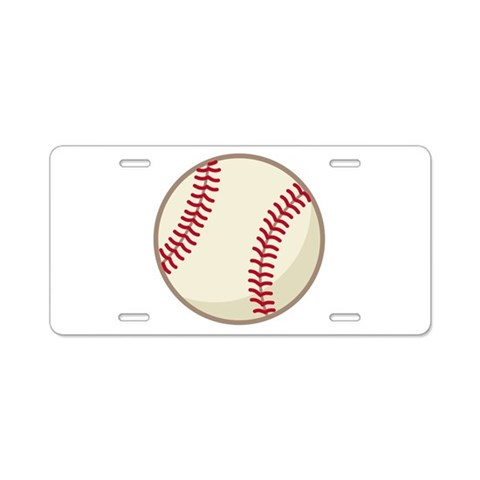 Baseball Sports License Plate Sports Aluminum License Plate by CafePress