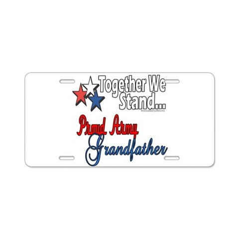 Army Grandpa  Military Aluminum License Plate by CafePress