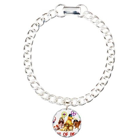 Dogs Of Peace  Political Charm Bracelet, One Charm by CafePress