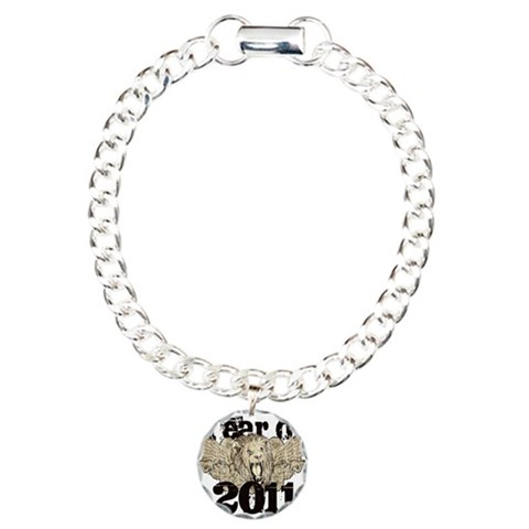 Year of 2011 Winged Lion  School Charm Bracelet, One Charm by CafePress