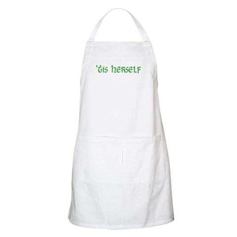 'tis herself BBQ  Irish Apron by CafePress