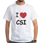 I heart CSI White T-Shirt