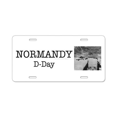 ABH Normandy  Military Aluminum License Plate by CafePress