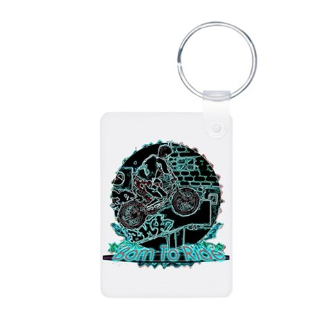 BMX  Sports Aluminum Photo Keychain by CafePress