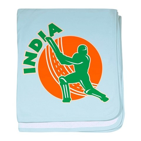 Cricket India  Sports baby blanket by CafePress
