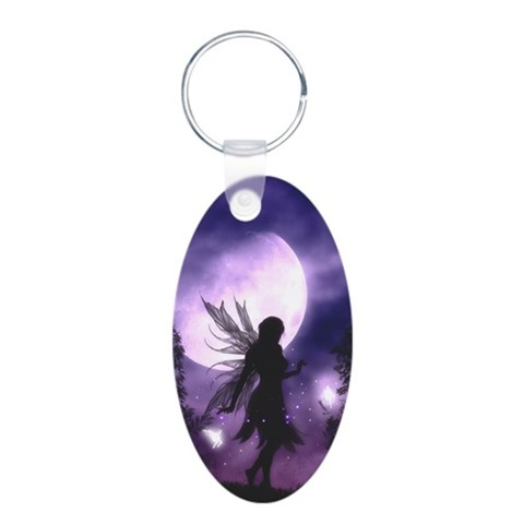 Dancing Fairy Oval Keychain Cute Aluminum Oval Keychain by CafePress