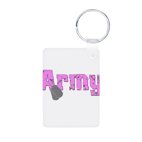 Army Niece  Military Aluminum Photo Keychain by CafePress
