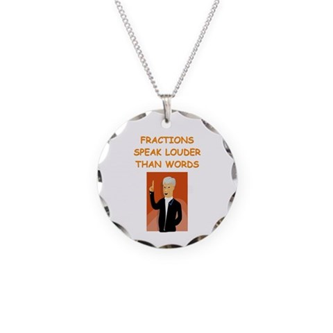 a funny math joke  Funny Necklace Circle Charm by CafePress