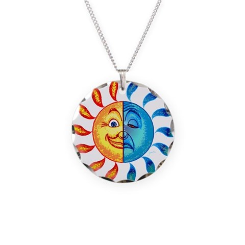 BiPolar Solar  Humor Necklace Circle Charm by CafePress