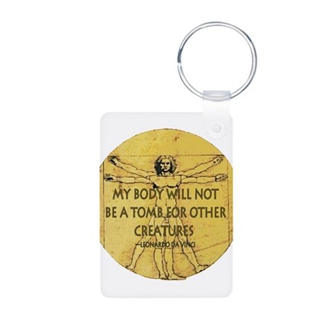 Body Tomb  Nature Aluminum Photo Keychain by CafePress