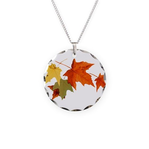Autumn Colors  Nature Necklace Circle Charm by CafePress