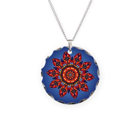 Apache Star  Indian Necklace Circle Charm by CafePress