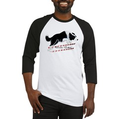 Border Collie Jump Baseball Jersey