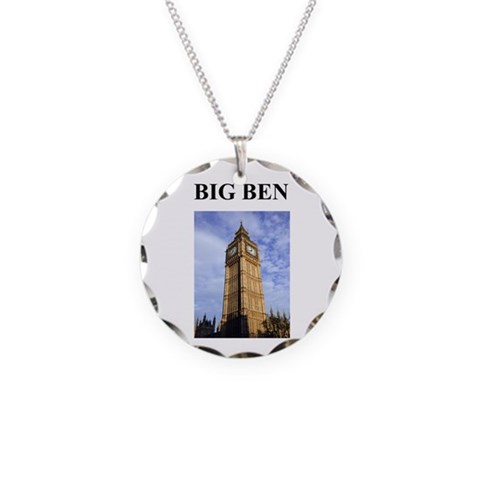 big ben london england gifts  Cool Necklace Circle Charm by CafePress