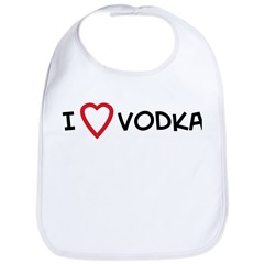 I Love Vodka Bib
